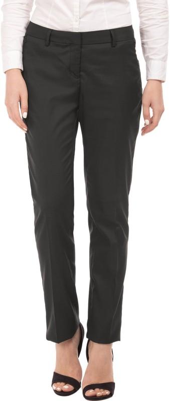 Arrow Woman Regular Fit Womens Black Trousers