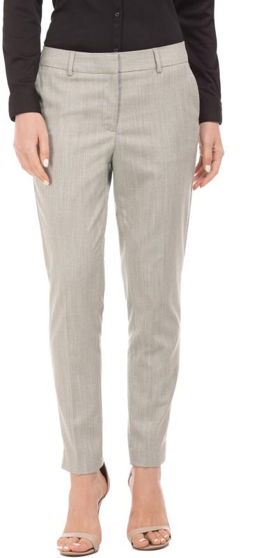 Arrow Woman Regular Fit Womens Beige Trousers
