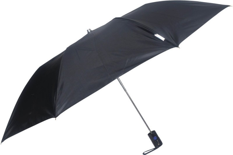 Fendo 2 fold black color UV Protection Umbrella(Black, Silver)
