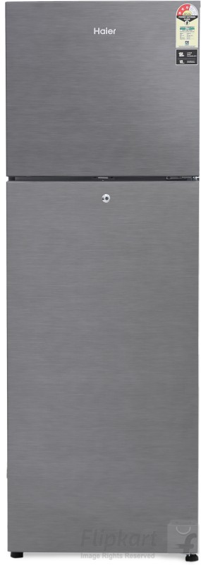 Haier 270 L Frost Free Double Door Refrigerator(Brushline Silver, HRF-2904BS-R/E)