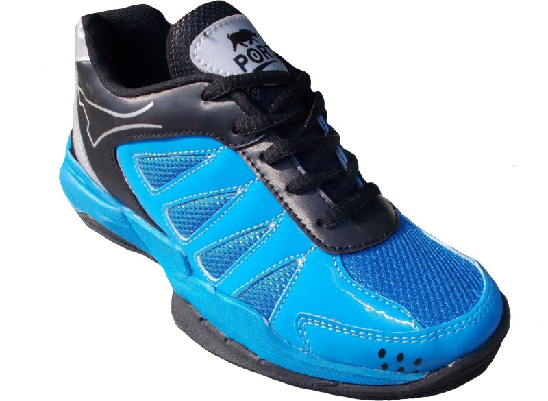 Port Super Labron Blue Badminton Shoes For Men(Blue)