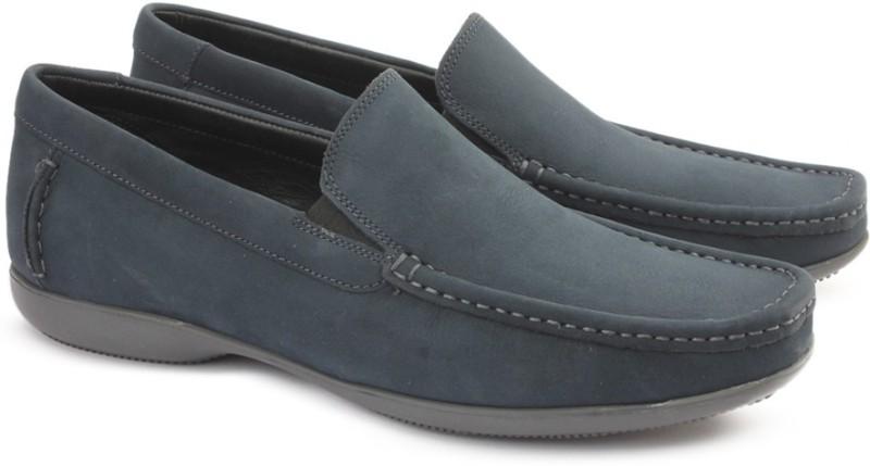 Clarks FINER SUN DENIM BLUE NBK Loafers For Men(Blue)