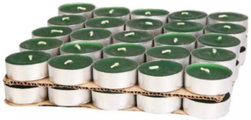 madhulica TL 2026 TEA LIGHT Candle(Green, Pack of 50)