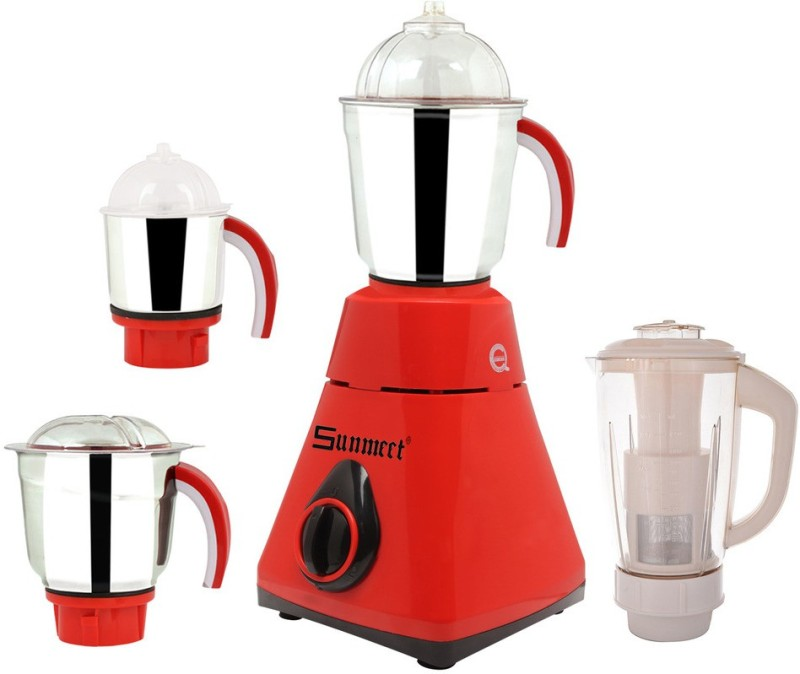 Sunmeet New_MG16-423MA 600 W Juicer Mixer Grinder(Red, 4 Jars)