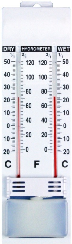 balrama Wet & Dry Bulb Hygrometer Humidity Temperature Meter Tester Wall Room PSYCHROMETER -20° to 50°C Instant Read Thermocouple Kitchen Thermometer