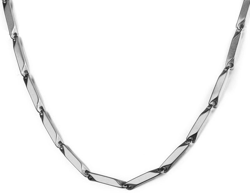 NAKABH Stunning Italian Silver Plated Stainless Steel Chain