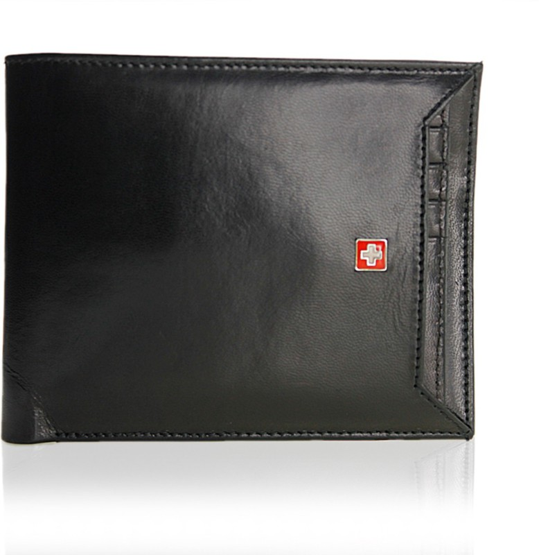 Swiss Military Men Black Canvas Wallet(1 Card Slot)