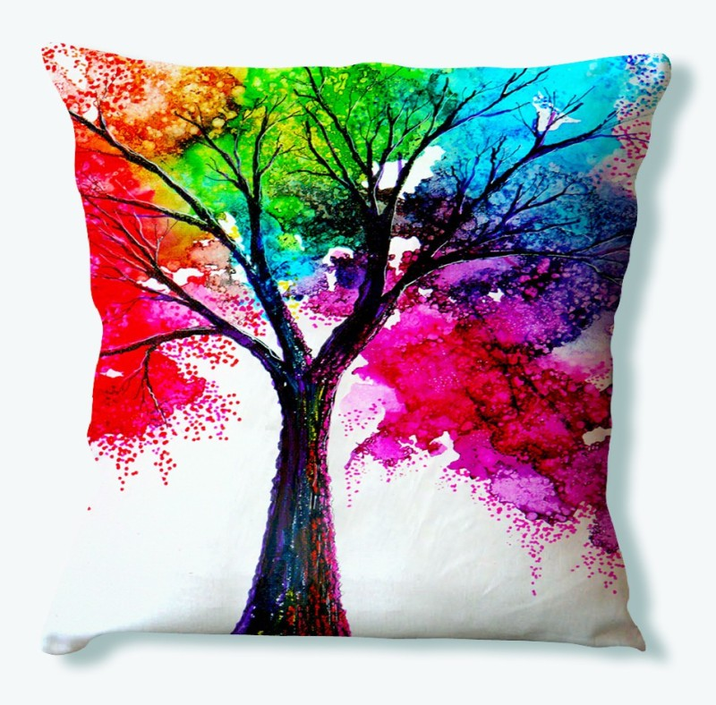 LA VERVE Printed Cushions Cover(40 cm*40 cm, Multicolor)