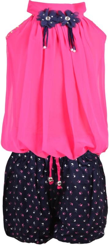 Aarika Girls Party(Festive) Top Shorts(Pink)