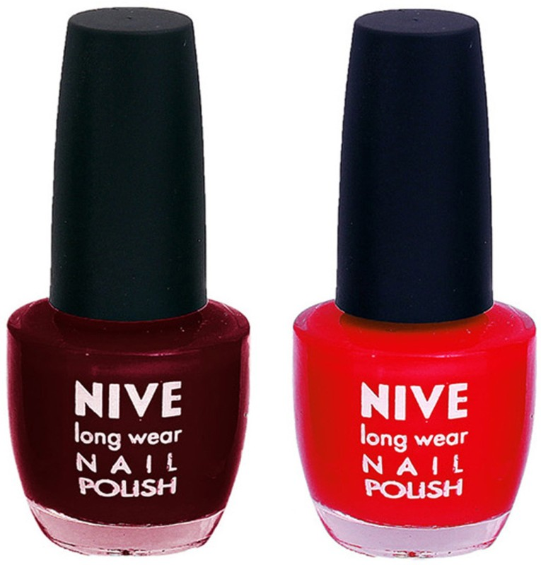 Nive Colour Blast Nail Polish 1206201614 Red(Pack of 2)