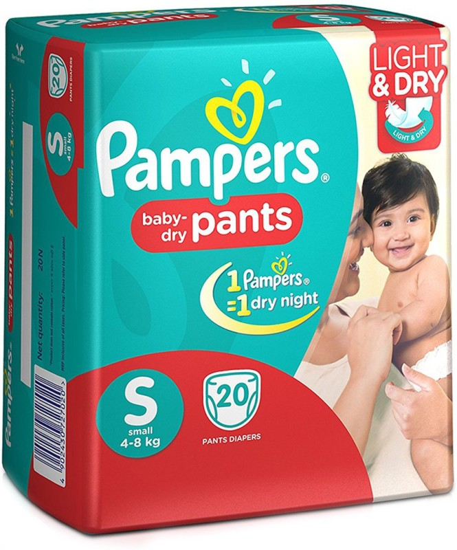 Pampers Baby-Dry Pants - S(20 Pieces)