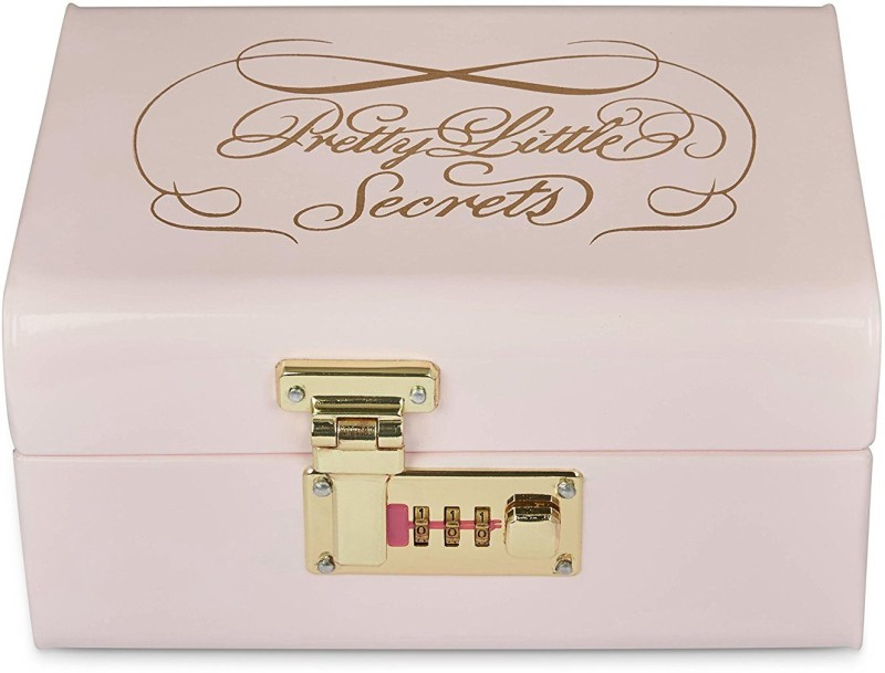 Elan Metal Trunk(Finish and Fabric Color - LIGHT PINK)
