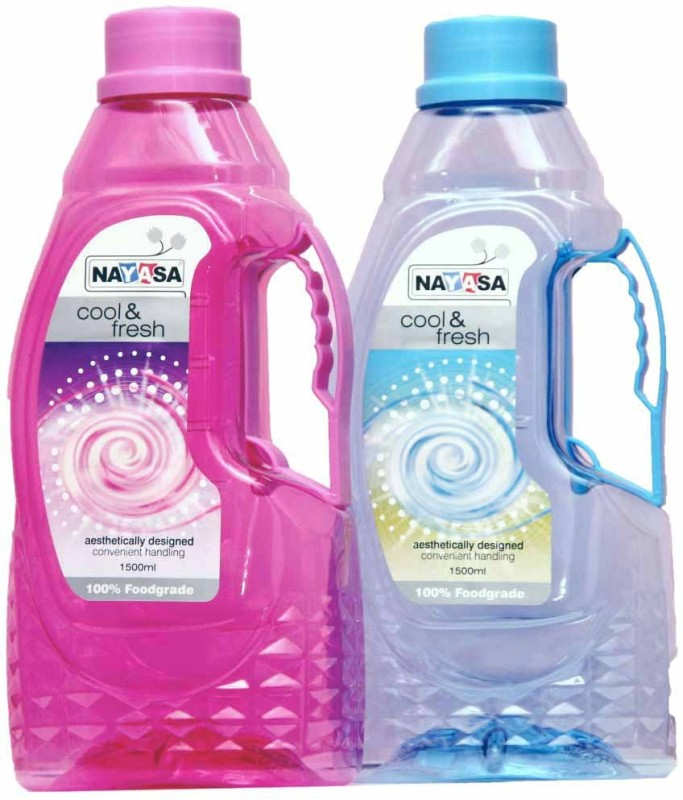 Nayasa pet bottle 1500 ml Bottle(Pack of 2, Multicolor)