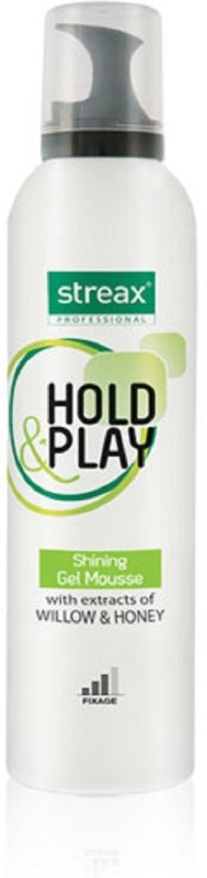 Streax Hold & Play Shining Gel Mousse Hair Styler