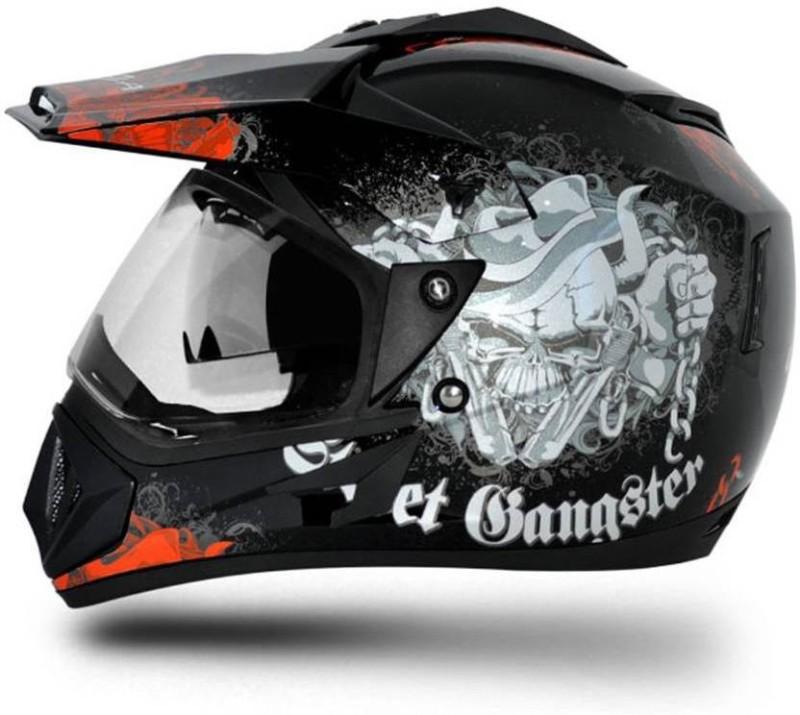 VEGA Off Road D/V Gangster Motorsports Helmet(Red, Black)
