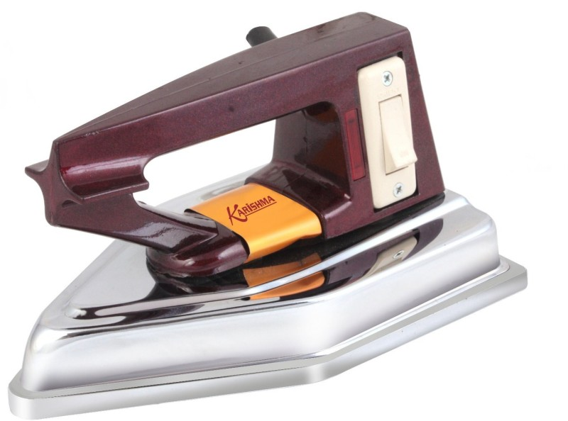 VintageWorld's Karishma Heavy Duty & Heavy Weight 2 Kg Durable Switch Indicator Dry Iron ( Made In India ) Dry Iron(Maroon)