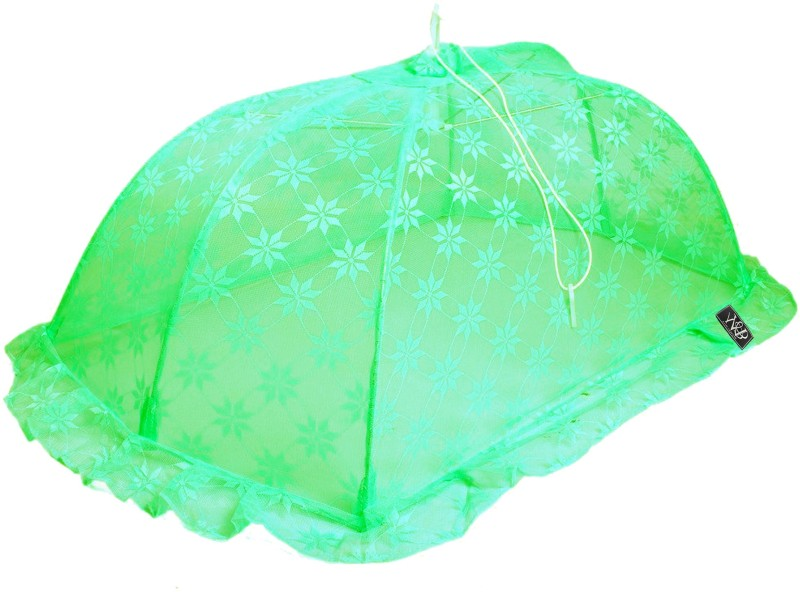 Weavers Villa Polyester Infants New Born Canopy Style Baby (0-12 Months) Mosquito Net(Green) New Born Canopy Style Baby (0-12 Months)