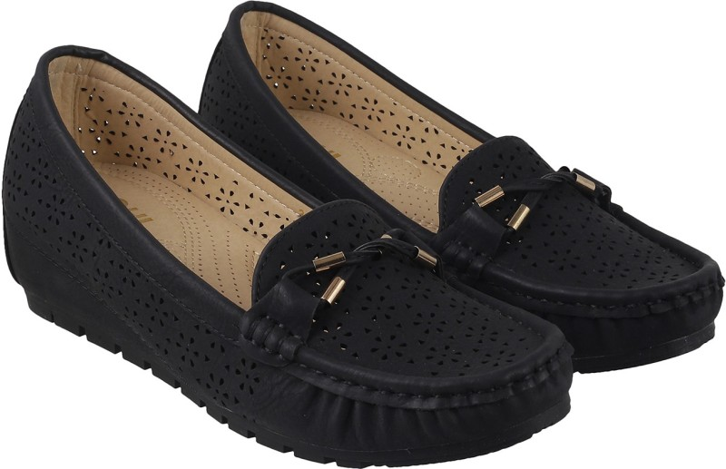 Mochi Stylish Loafers For Women(Black)