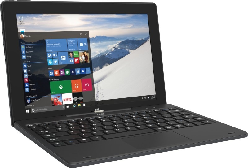 Acer Switch One Atom Quad Core - (2 GB/32 GB EMMC Storage/Windows 10 Home) SW110-1CT 2 in 1 Laptop(10.1 inch, Black) UT.709SI.001