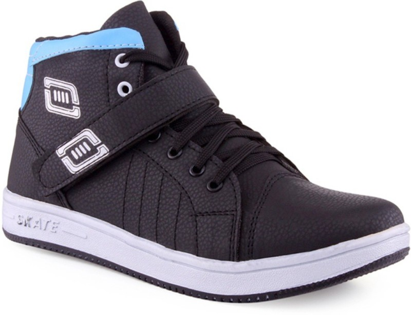 Clerk Boys Velcro Casual Boots(Blue)