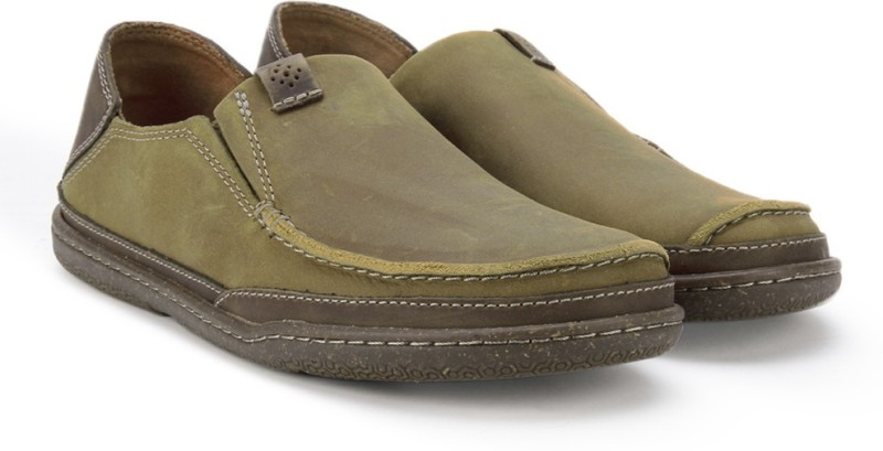 Clarks Trapell Form Tan Leather Loafers For Men(Tan)
