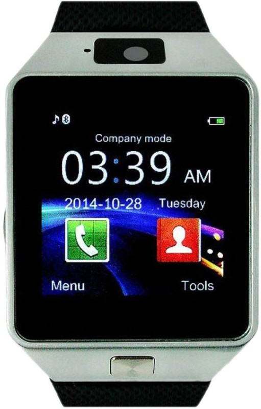 Mezire Smart Watch Dzo9-69 Bluetooth with Built-in Sim card and memory card slot Smartwatch(Black Strap Regular)