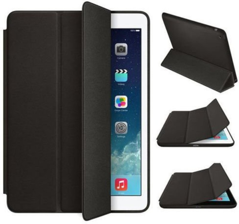 TGK Book Cover for iPad 2, iPad 3, iPad 4(Black, Cases with Holder, Leather)