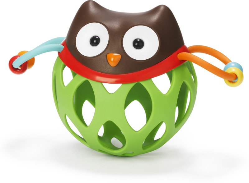 Skip Hop Explore and More Roll Around Rattle Toy, Owl(Multicolor)