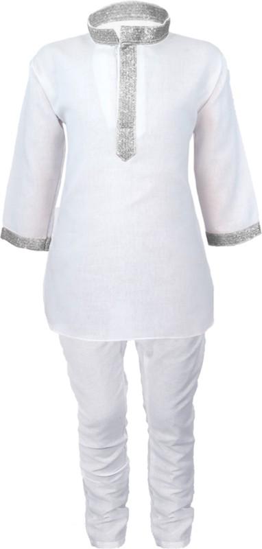 JBN Creation Boys Festive & Party, Wedding Kurta and Pyjama Set(White Pack...