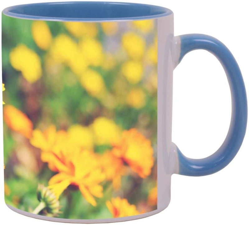 Arkist orange flowers orcas island Ceramic Mug(340 ml)