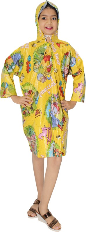 Goodluck Graphic Print Boys & Girls Raincoat