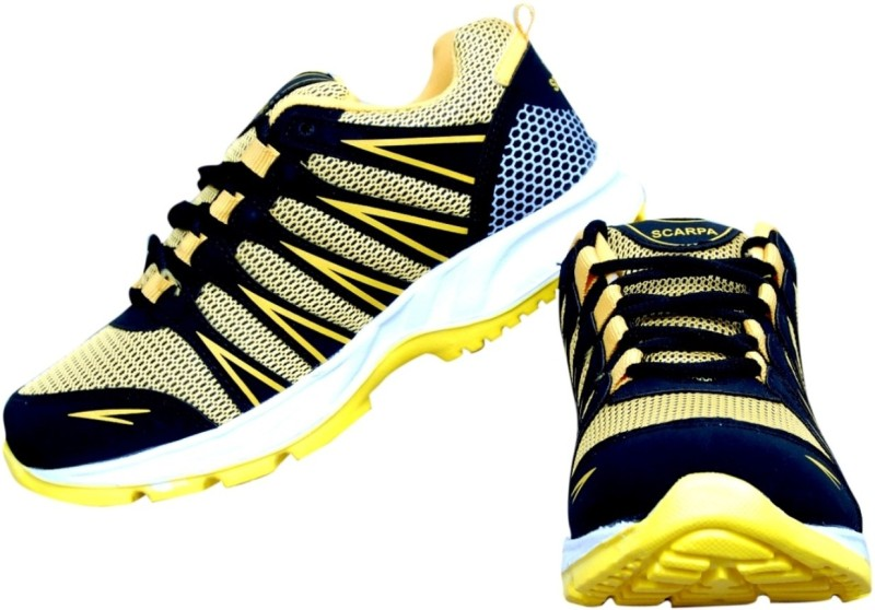 The Scarpa Shoes Running Shoes For Men(Yellow)