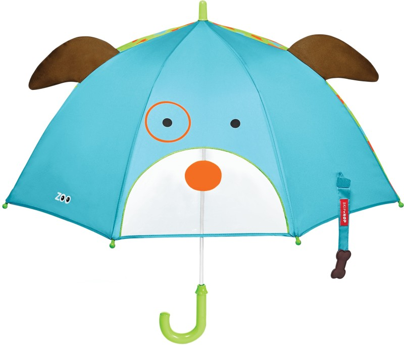 Skip Hop Zoobrella Little Kid Umbrella- Dog Umbrella(Multicolor)