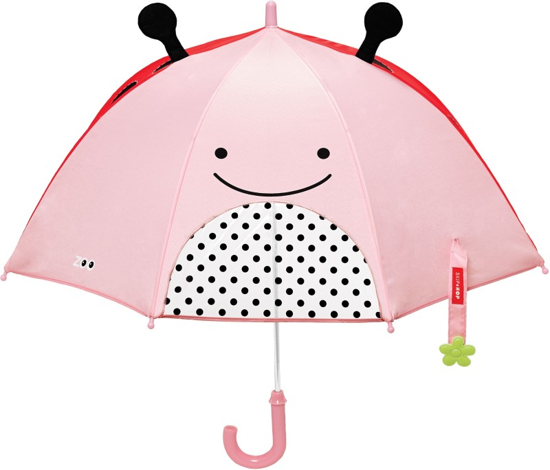 Skip Hop Zoobrella Little Kid Umbrella-Ladybug Umbrella(Multicolor)