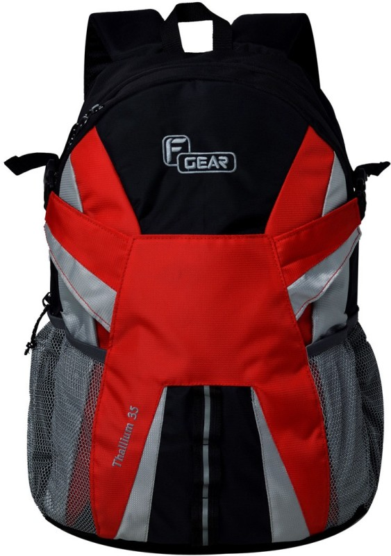 F Gear Britain 27 L Laptop Backpack(Black, Red)