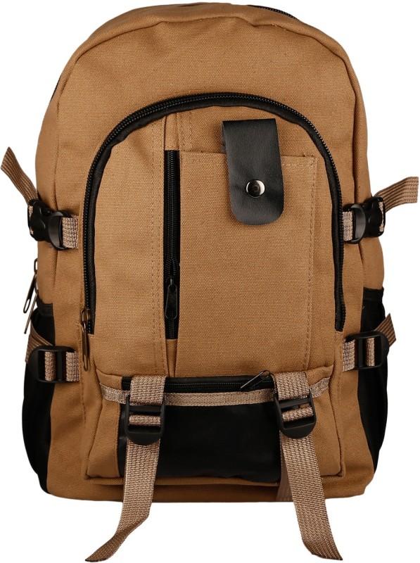 Aaishwarya Brown Canvas Backpack Backpack(Brown, 15 L)