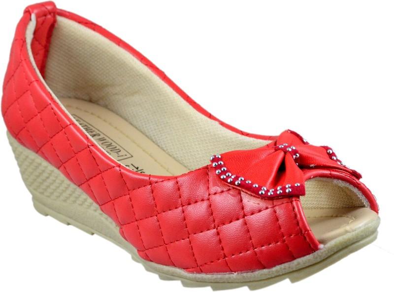 Leatherwood1 Girls Slip on Ballerinas(Red)