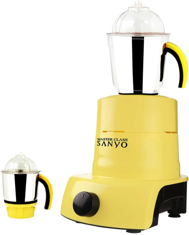MasterClass Sanyo ABS Plastic Body Brand Outlet model_450 ABS Plastic YPMG17_450 600 W Mixer Grinder(Yellow, 2 Jars)