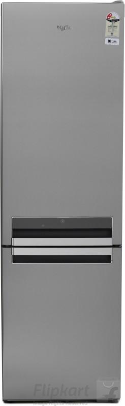 Whirlpool 395 L Frost Free Double Door Bottom Mount 2 Star Refrigerator(Inox Steel, BM 425 Optic)