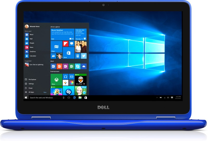 Dell Inspiron 3000 Core m3 6th Gen - (4 GB/500 GB HDD/Windows 10 Home) 3169 2 in 1 Laptop(11.6 inch, Blue) Inspiron 3169