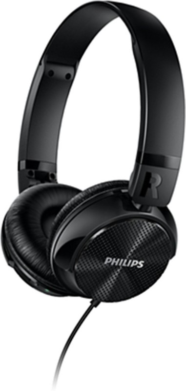 Philips SHL3750NC/00 Headset with Mic(Black, On the Ear)