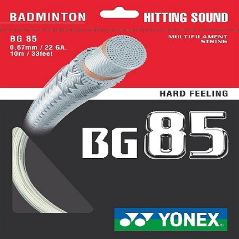 Yonex BG 85 Badminton Strings 0.67 Badminton String - 10 m(White, Blue)
