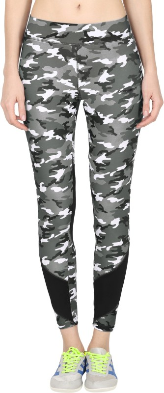 Onesport Printed Women's Grey, Black Tights