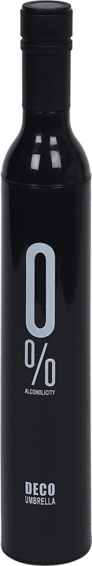 Home Story Home Story Fashionable Wine Bottle Black 110 cm Travel Umbrella Umbrella(Black)