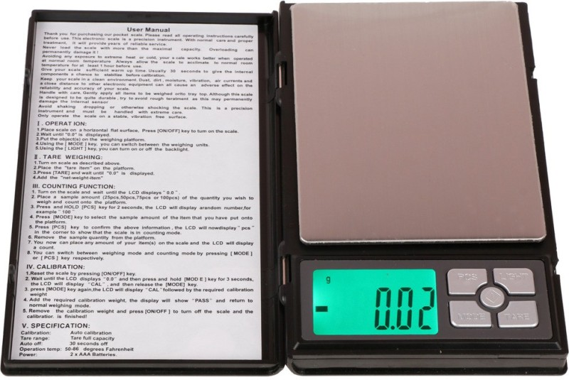 Selves Notebook Digital Pocket Weighing Scale(Black)