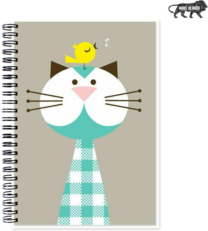 VenTechno Cute Designer Wirebound Ruled Paper Sheets Personal and Office Stationary Notebooks Diary A5 Diary 160 Pages(Multicolor)
