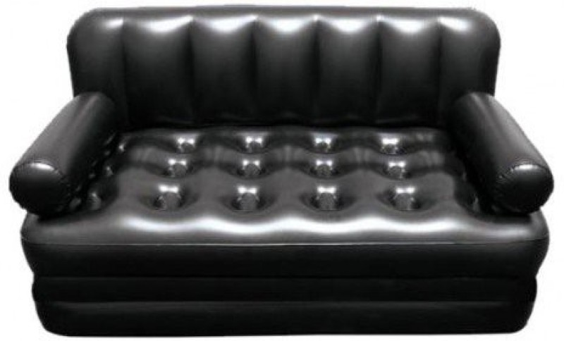 Lovato easy way sofa cum bed PP 3 Seater Inflatable Sofa(Color - Black)