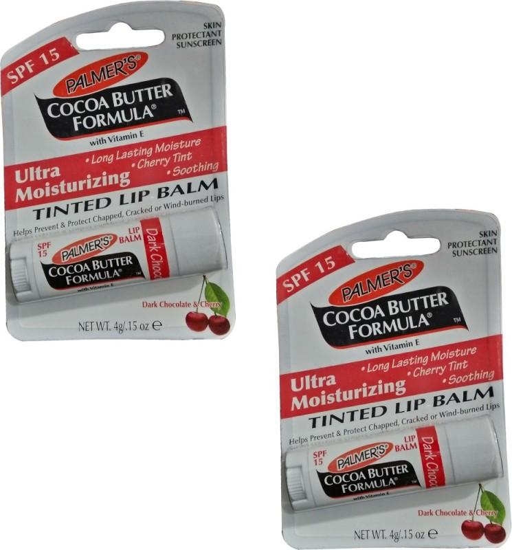 Palmer's Dark Chocolate and Cherry Lip Balm Pack of 2 Cherry(Pack of: 2, 8 Gm)