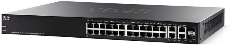 Cisco SF300-24PP-K9 Network Switch(Black) image