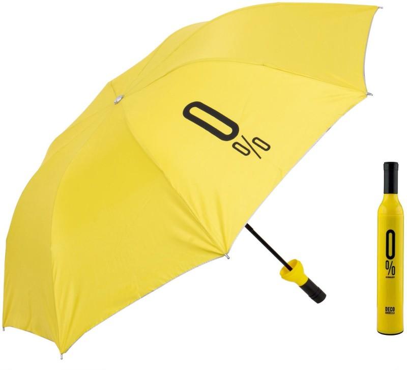 Home Story Home Story Fashionable Wine Bottle Blue 110 cm Travel Umbrella Umbrella(Yellow)